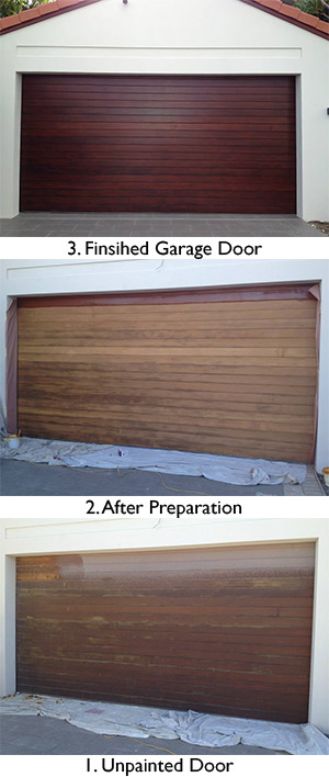 Re-painted garage door